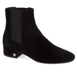 NEW Tory Burch Pascal Black Suede Chelsea Bootie